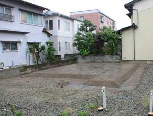 地盤改良工事完了、これで堅牢な地面になりました