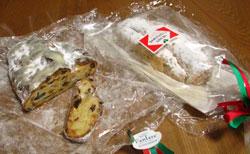 ドイツの伝統菓子 シュトーレンです。クリスマスにはかかせません